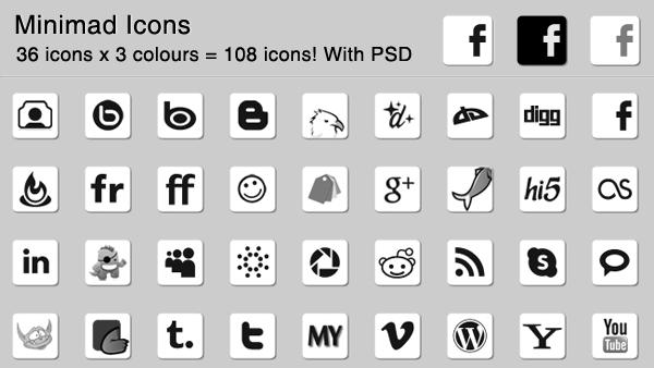 108 Minimad Icons Creative Vip