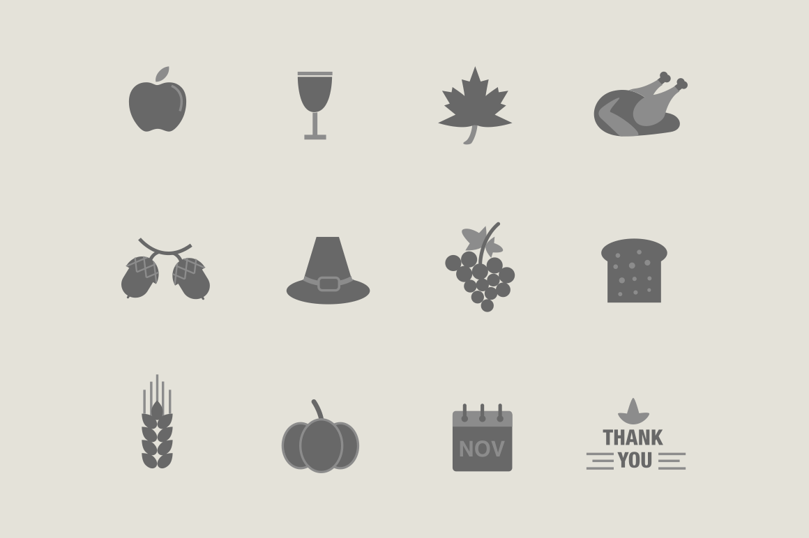 12 Thanksgiving Icons