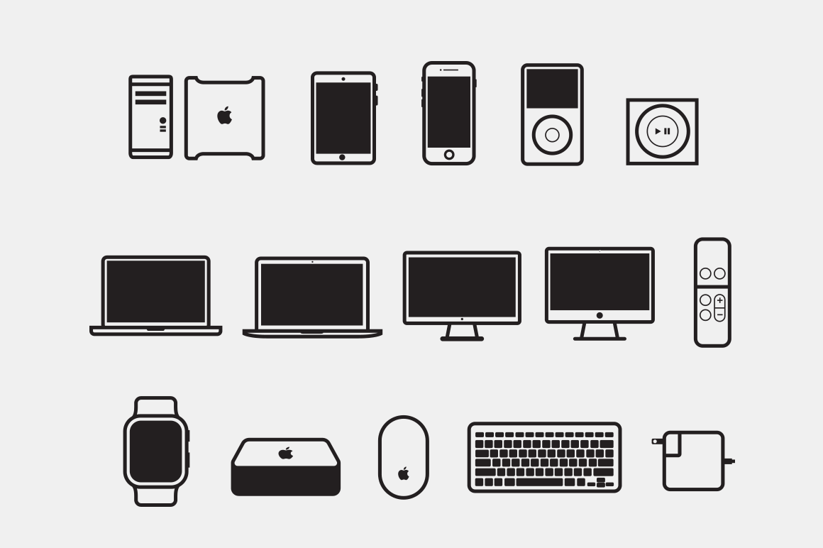 15 Apple Device Icons