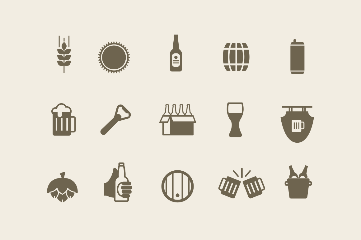 15 Beer Ale Icons