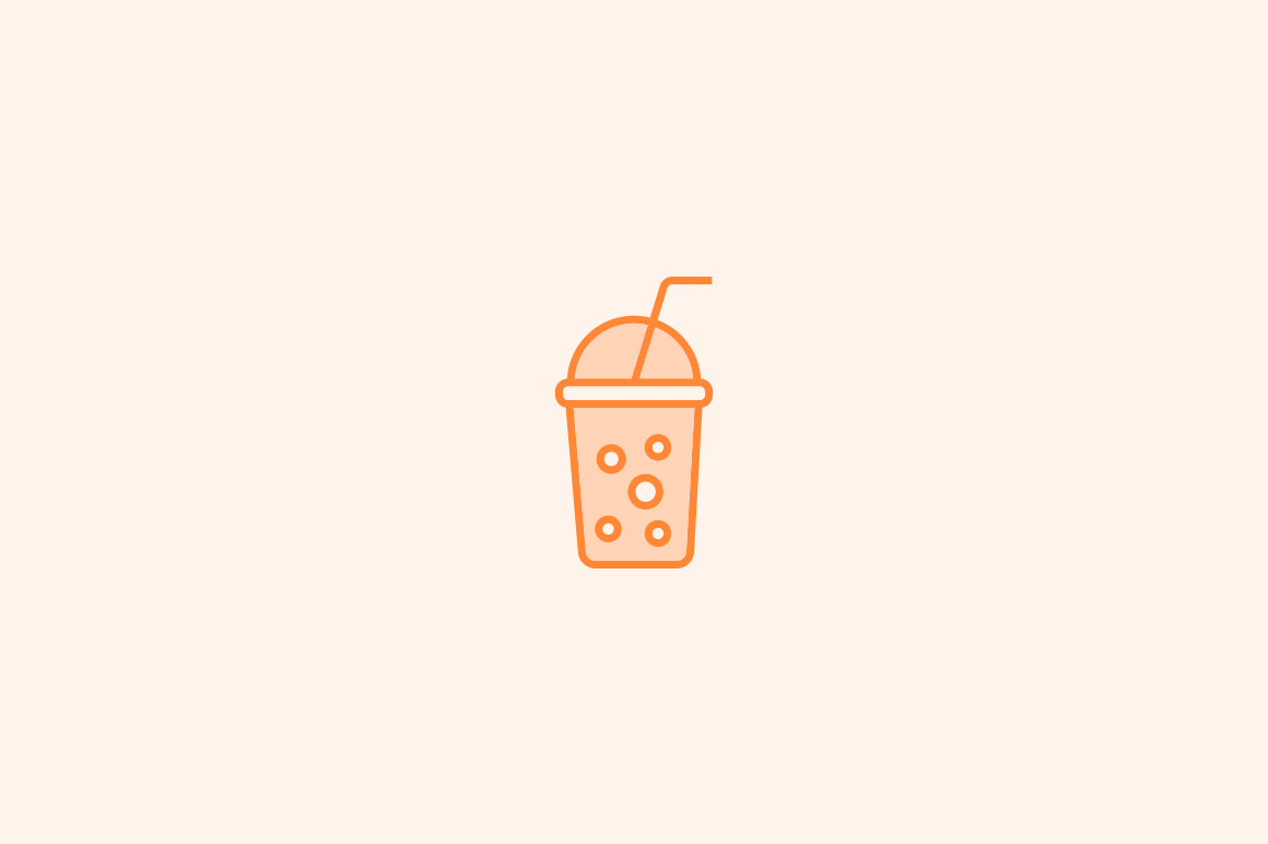 15 Bubble Tea Icons