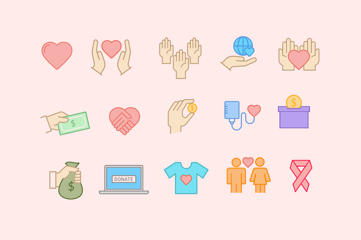 15 Charity Icons