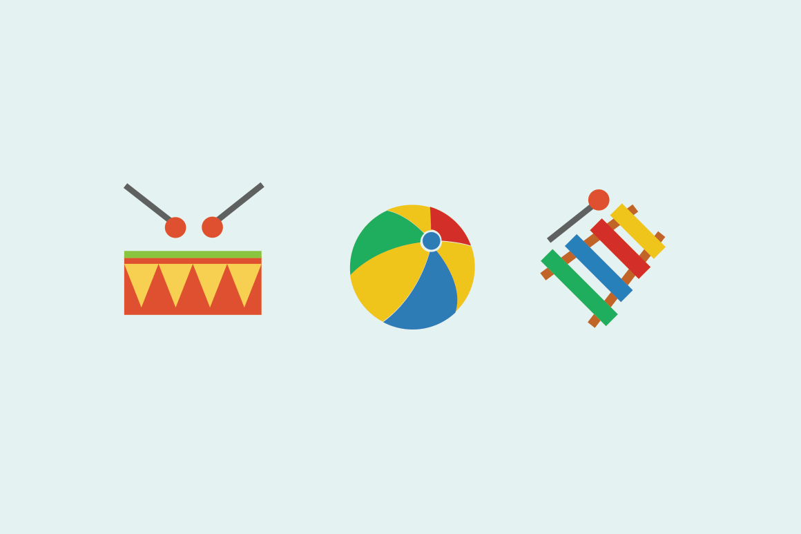 15 Children's Toy Icons