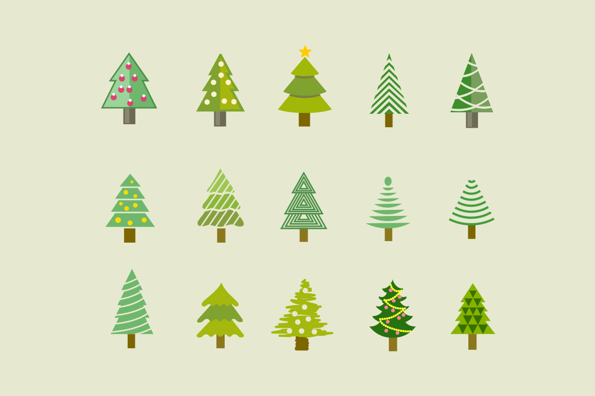 15 Christmas Tree Icons