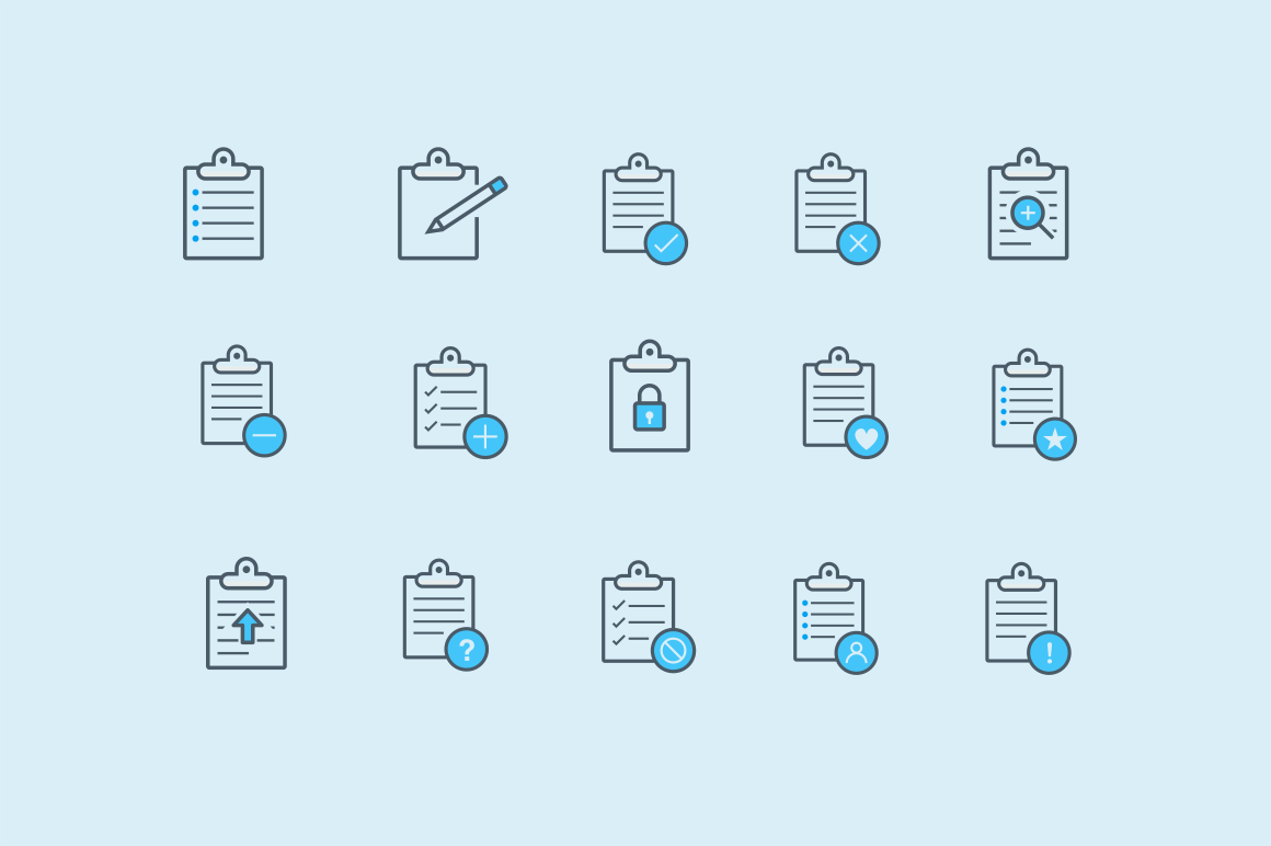 15 Clipboard Icons