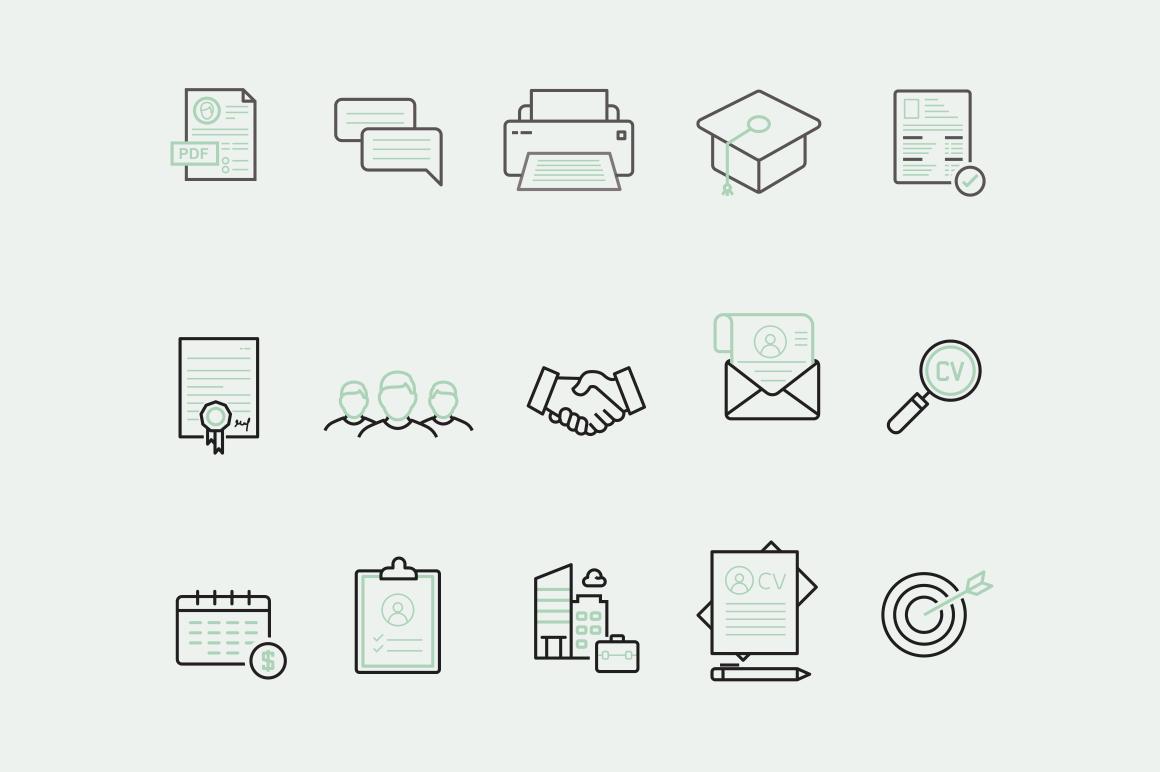 15 Cv Resume Icons Creative Vip