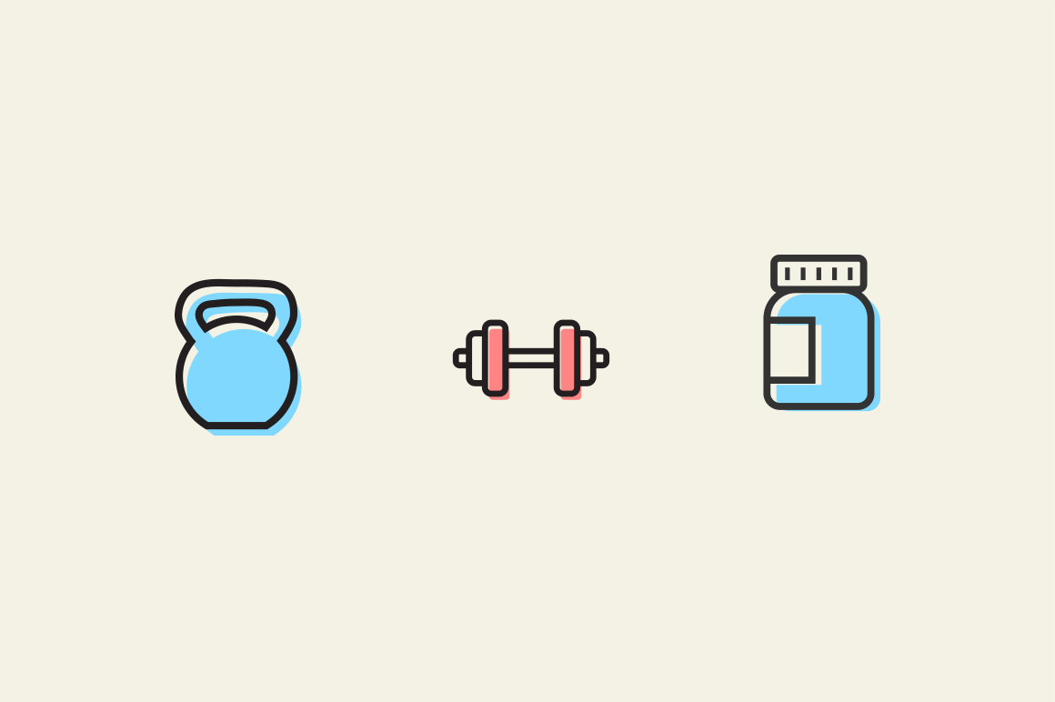 15 Exercise and Muscle Icons