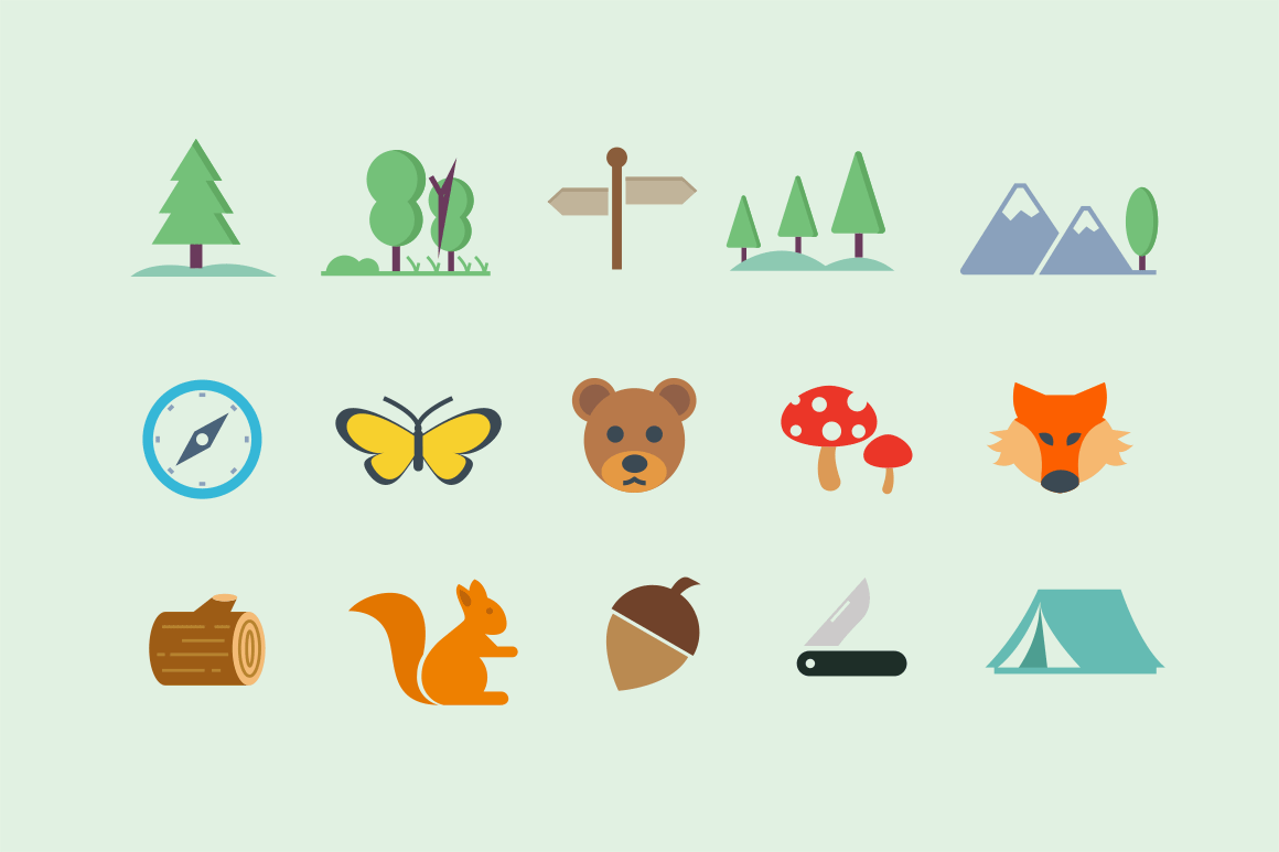 15 Forest Icons