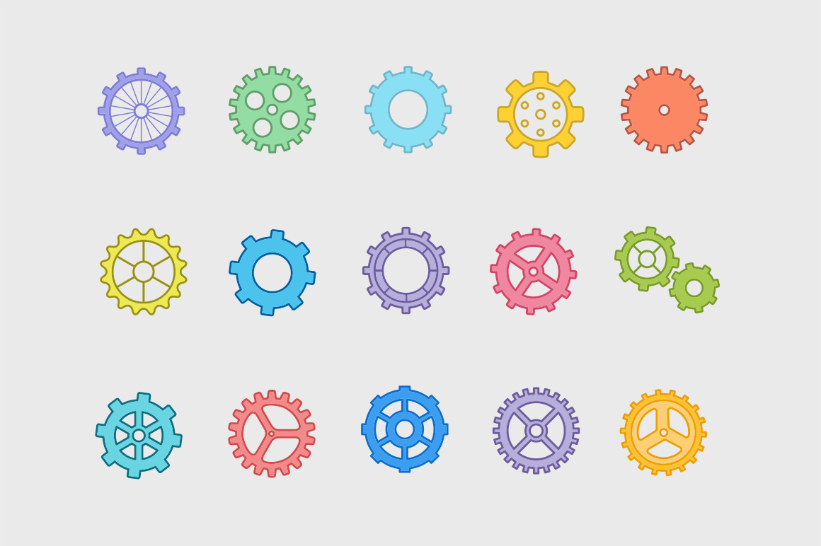 15 Gear Icons