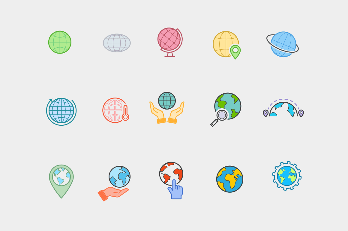 15 Globe & World Icons