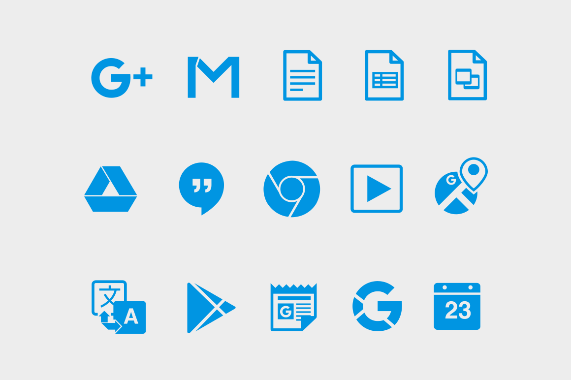 15 Google Product Icons