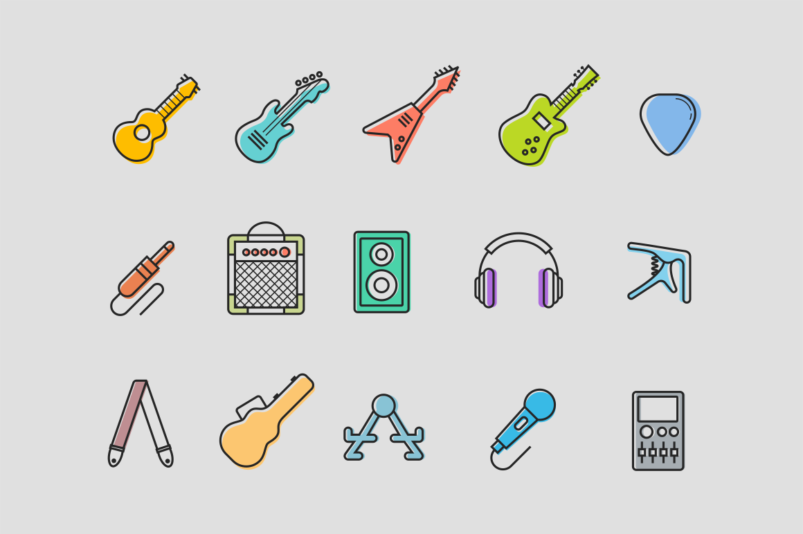 15 Guitar Icons