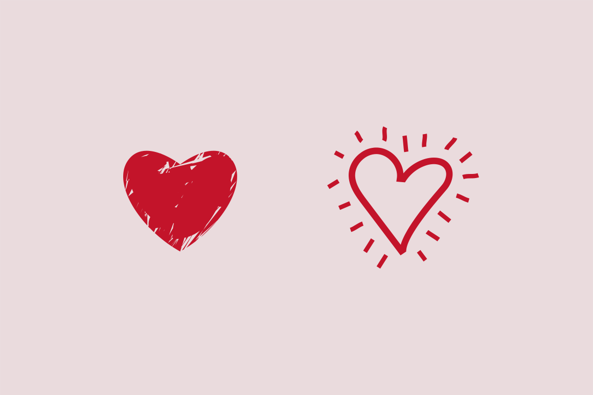 15 Heart Doodle Icons