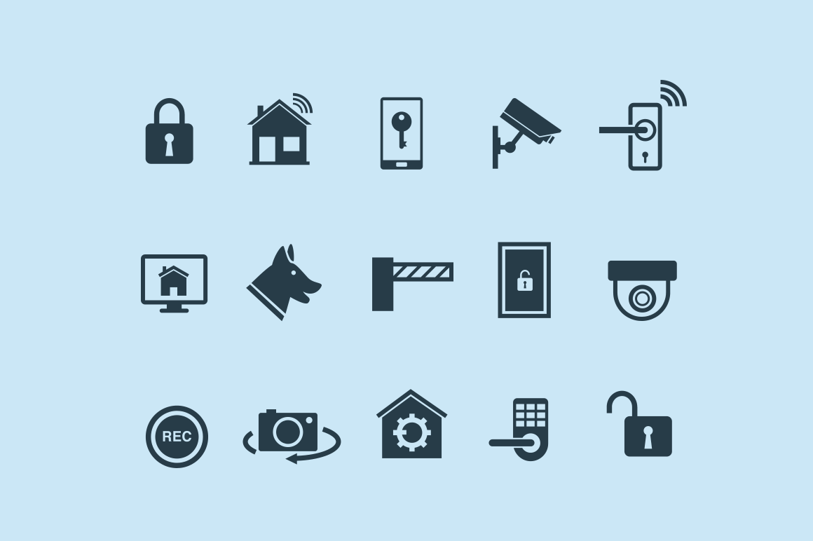 15 Home Security & Automation Icons