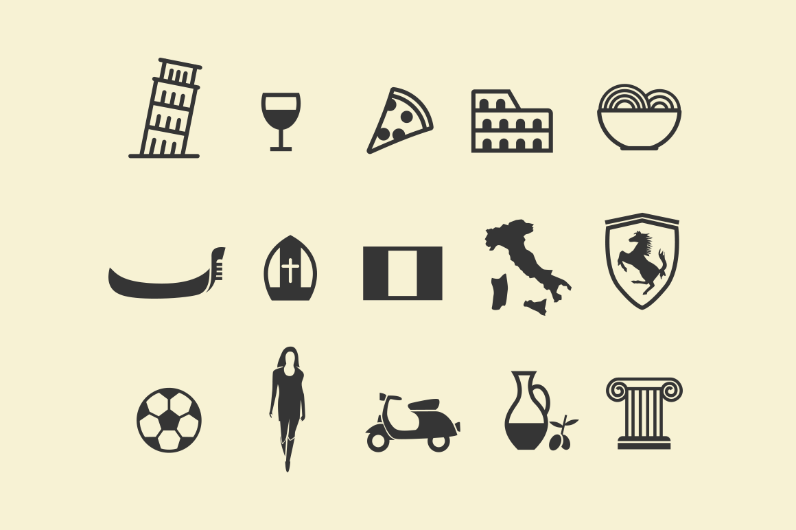 15 Italy Icons