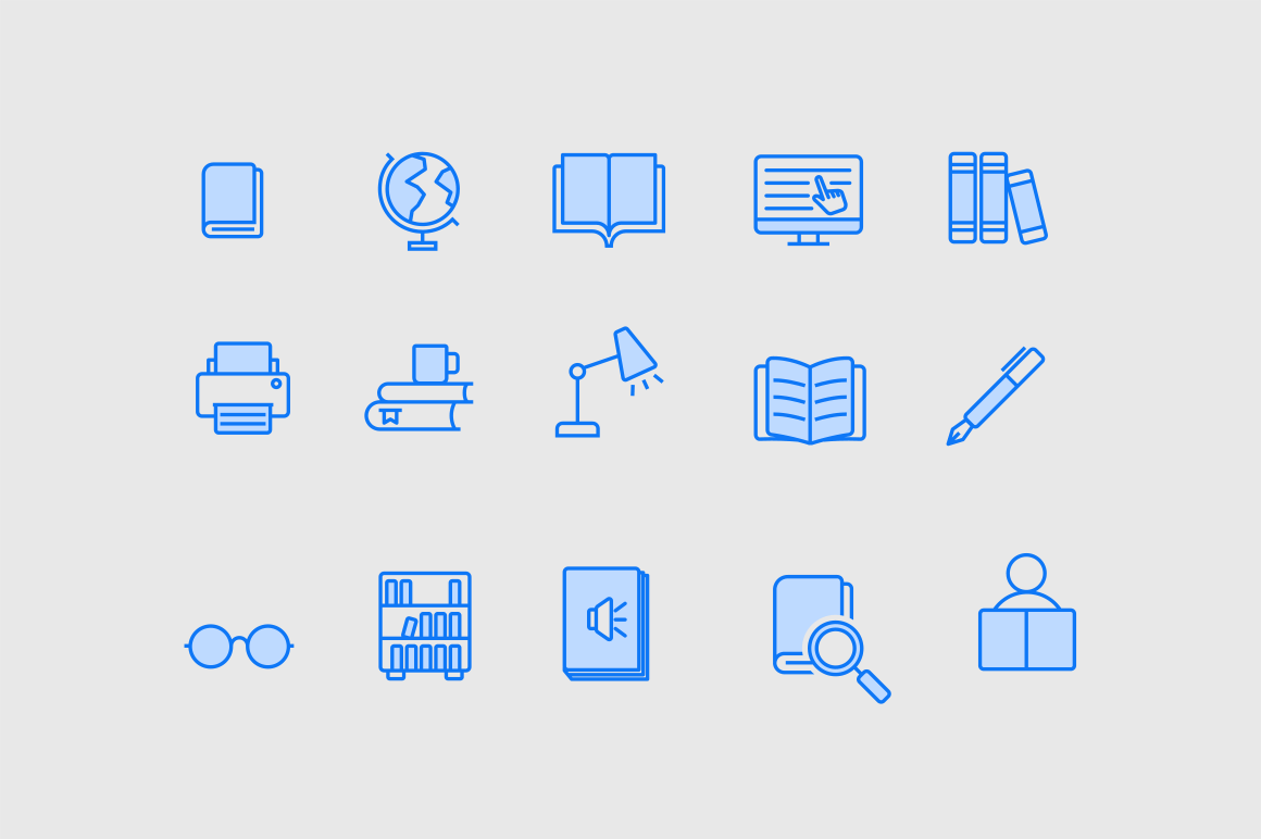 15 Library Icons