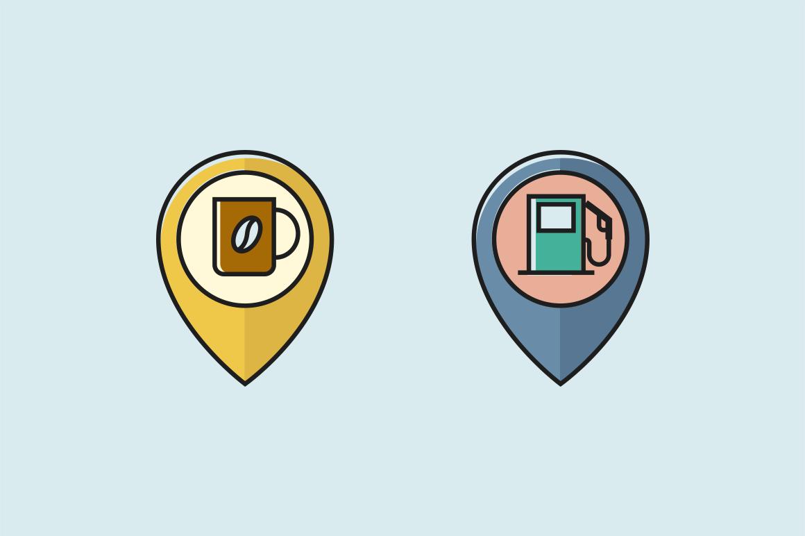20 Location Pin Icons   Creative VIP
