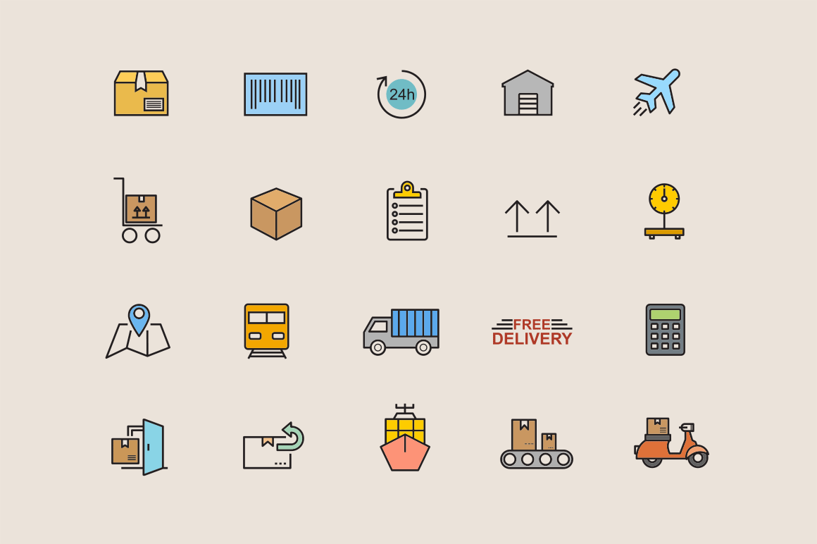 15 Logistics and Delivery Icons