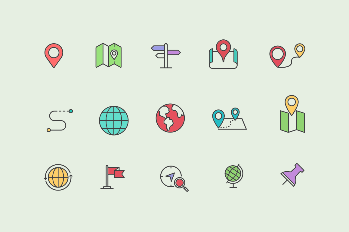 15 Map Icons