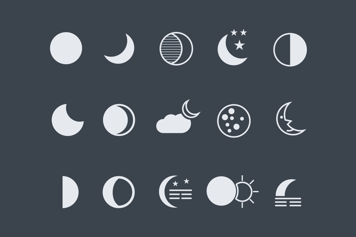 15 Moon Icons