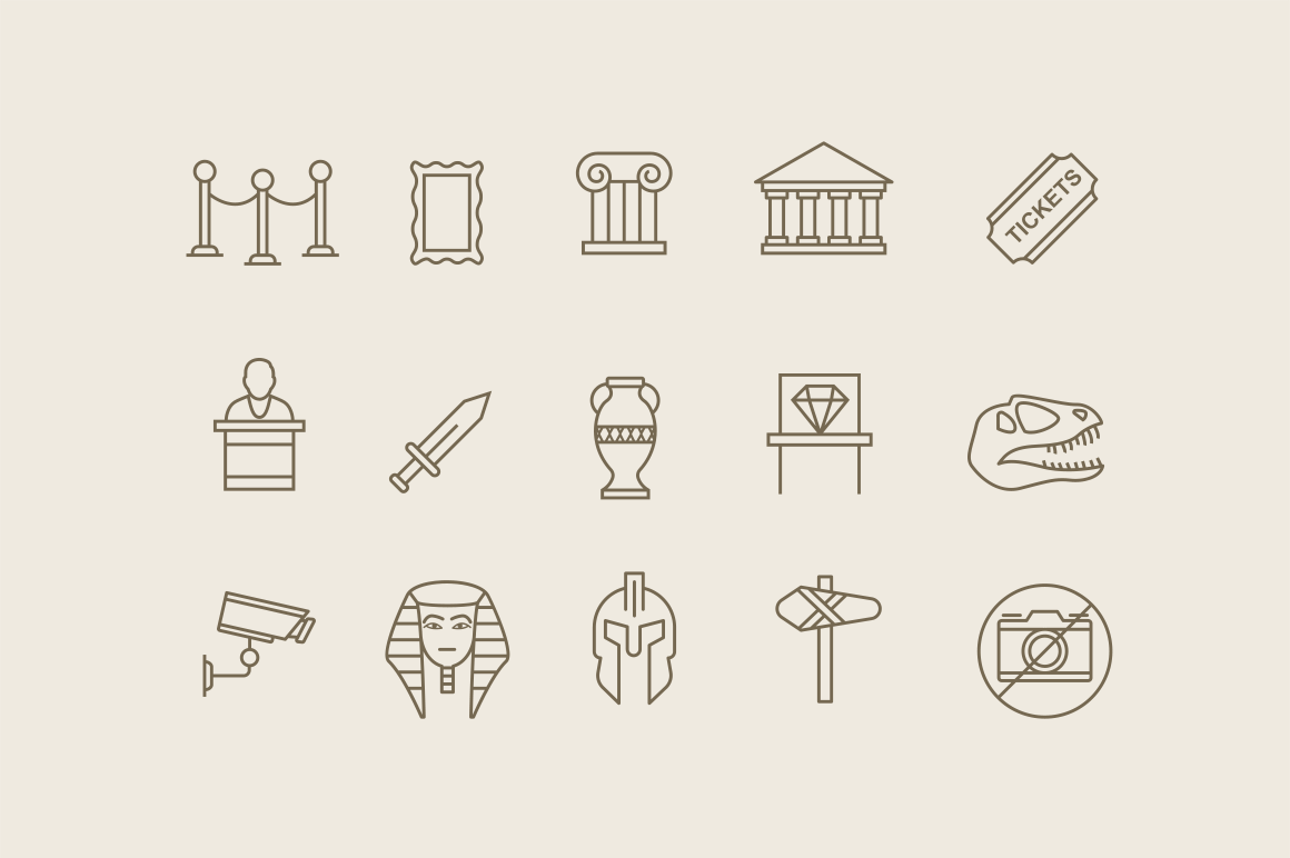 15 Museum Icons