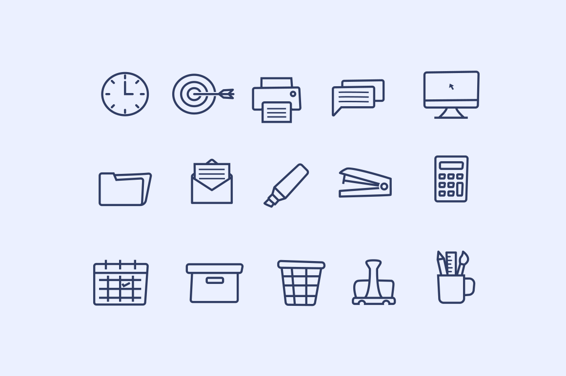 15 Office Doodle Icons