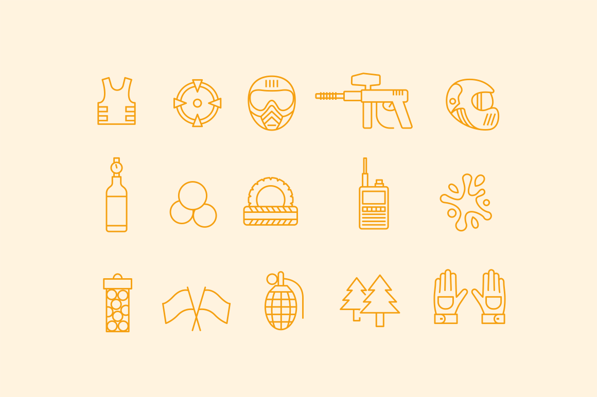 15 Paintball Icons