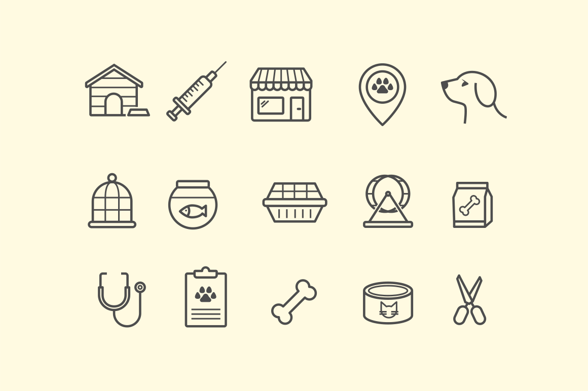 15 Pet Shop Icons