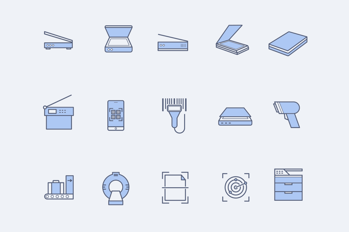 15 Scanner Icons