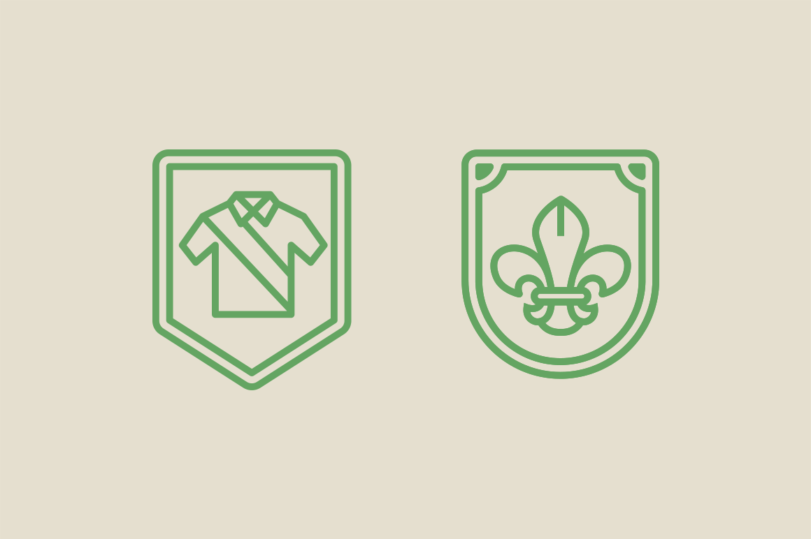 15 Scout Badge Icons