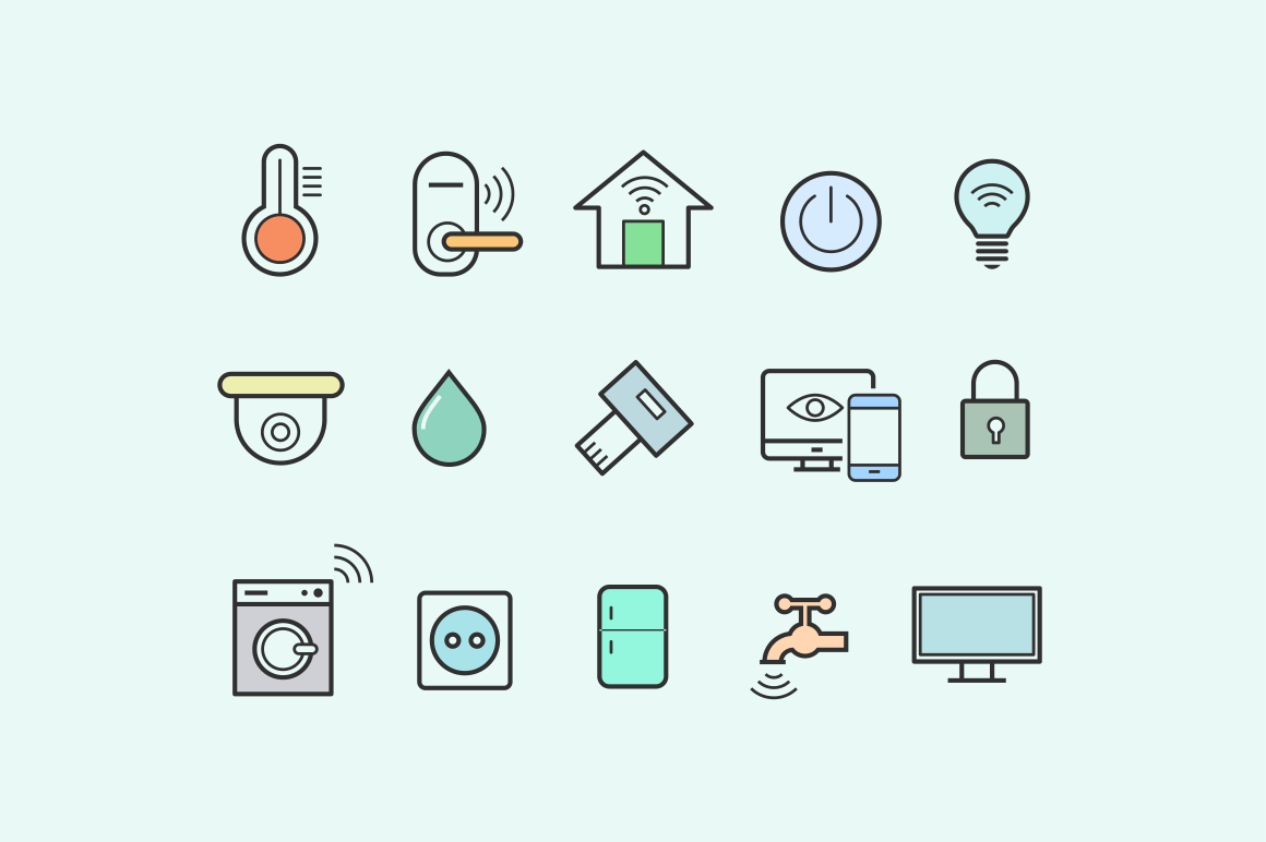 15 Smart Home Icons