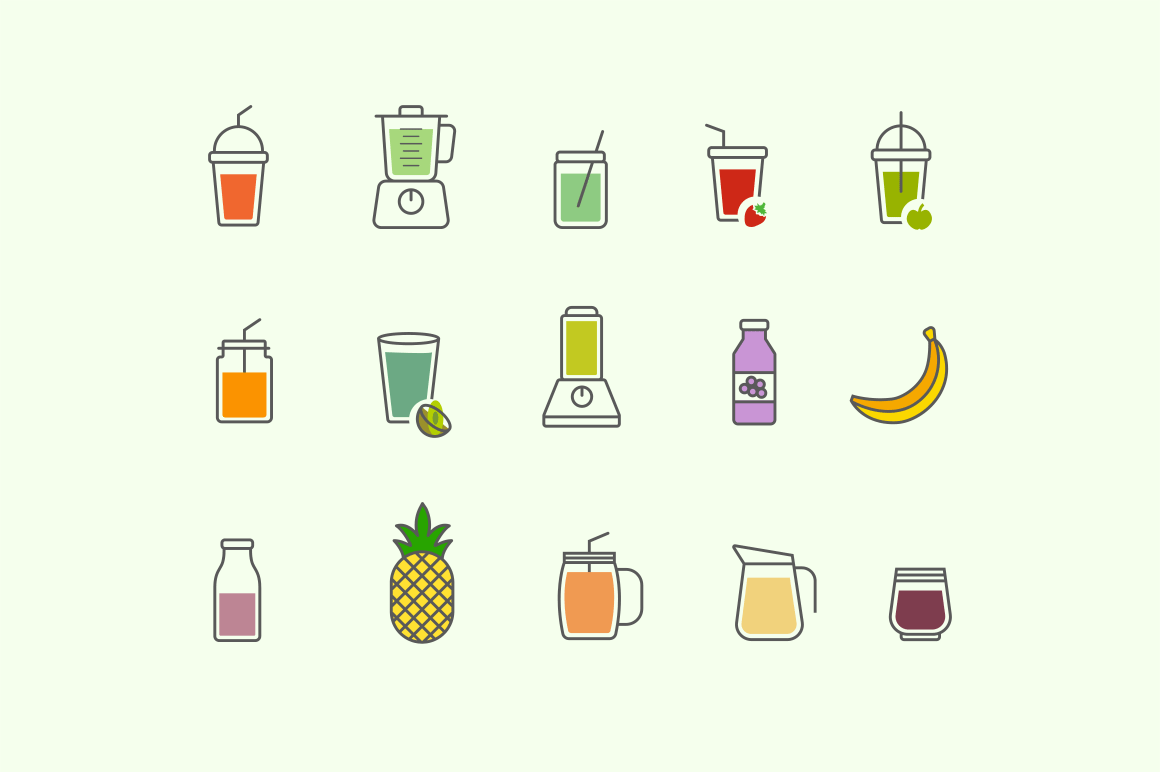 15 Smoothie Icons
