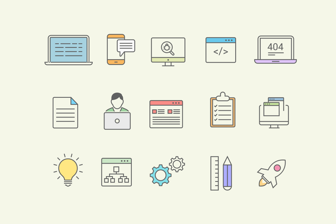 15 Software Development Icons