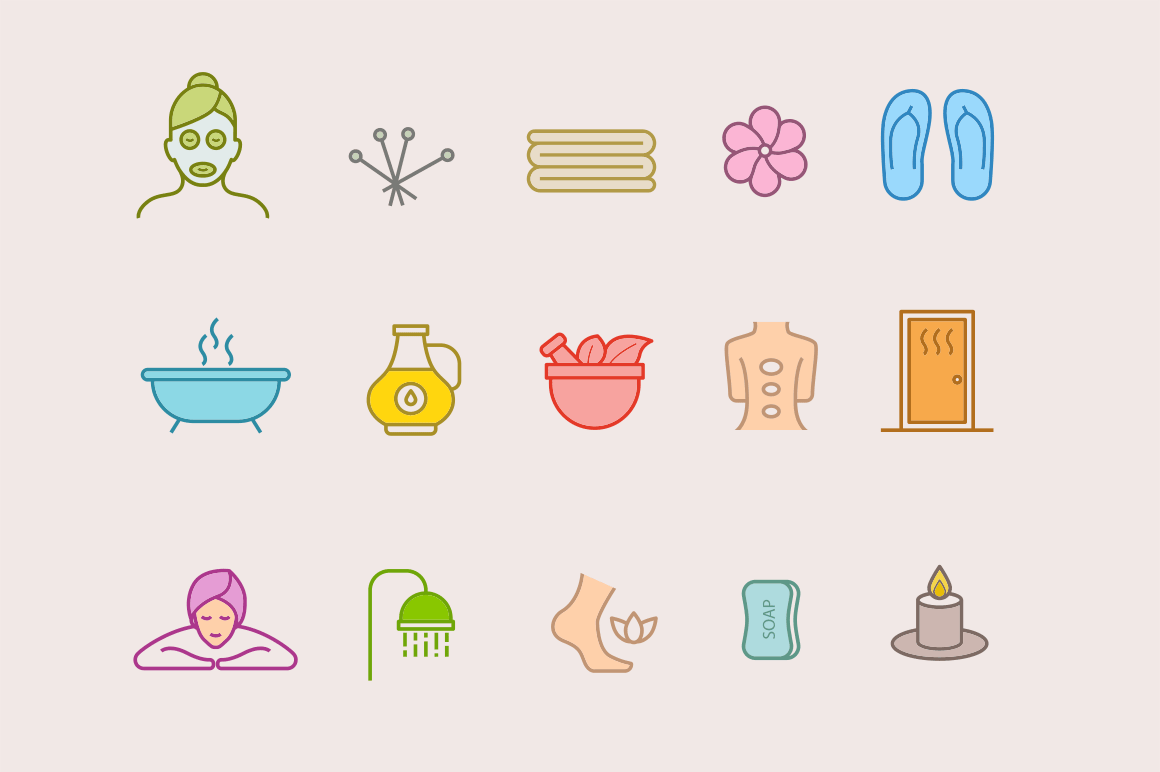 15 Spa Icons
