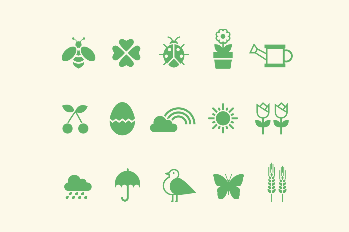 15 Spring Icons