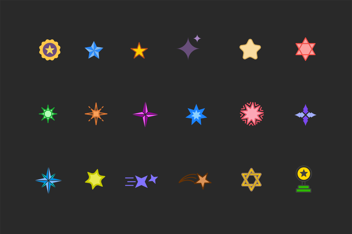 15 Star Icons