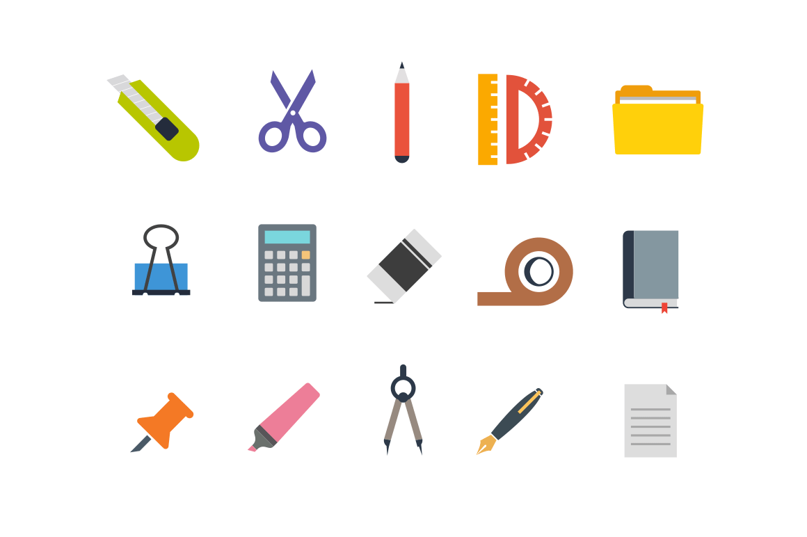 15 Stationary Icons