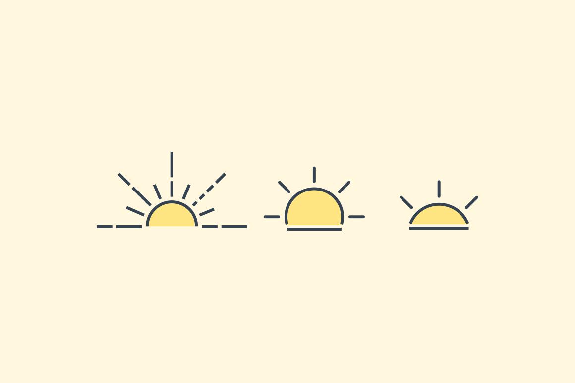 15 sunset and sunrise icons creative vip 15 sunset and sunrise icons creative vip