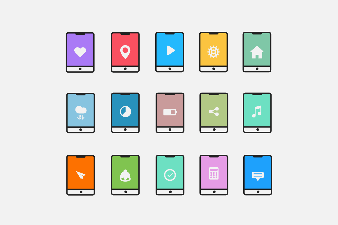 15 Tablet App Concept Icons