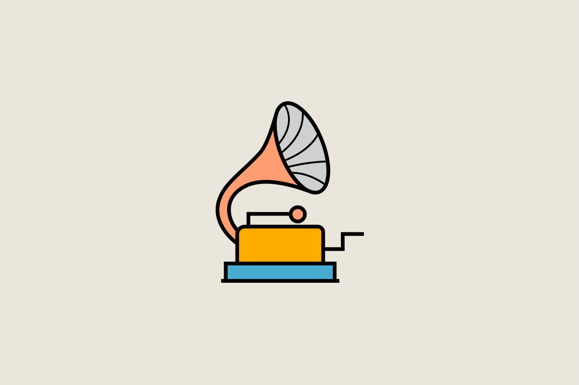 15 Vintage Audio Icons