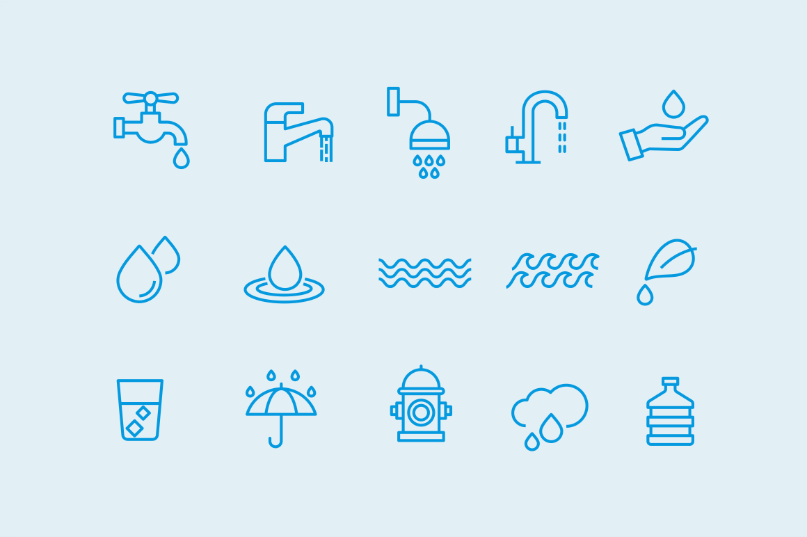 15 Water and Droplet Icons