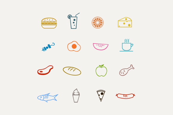 16 Food & Drink Line Icons