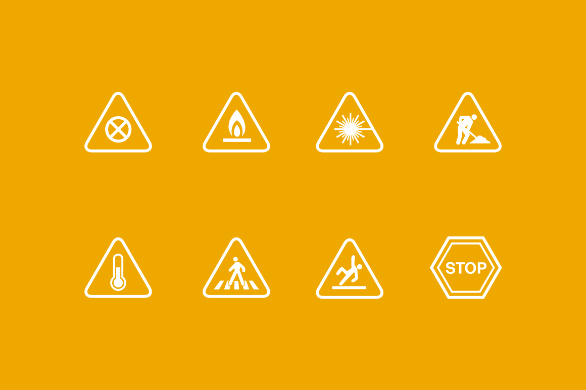 16 Warning Signs and Icons