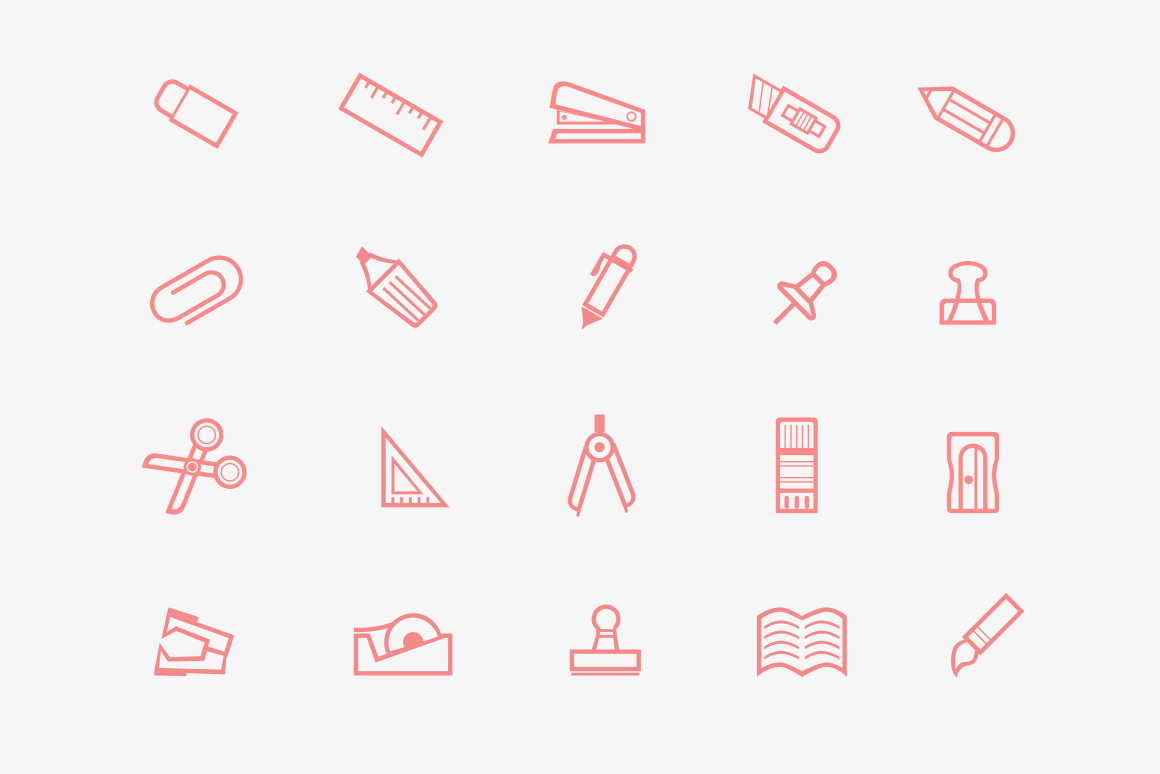 20 Stationary Icons