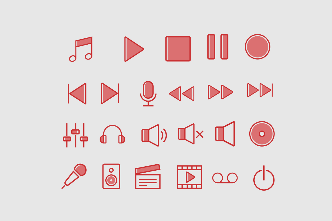 23 Media Centre Icons