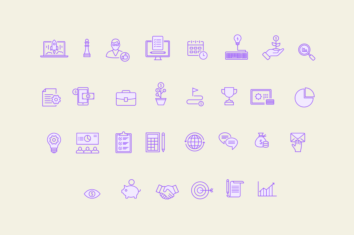 30 Business Concept Icons