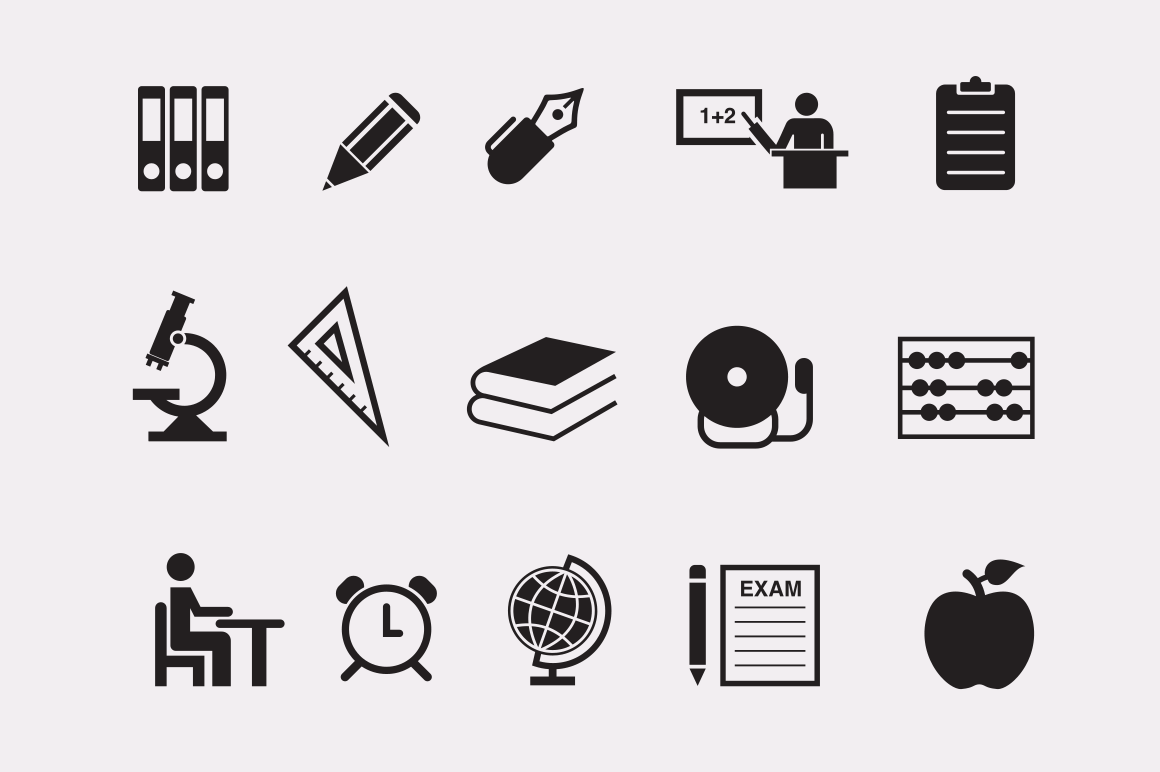 30 School and Game Icons