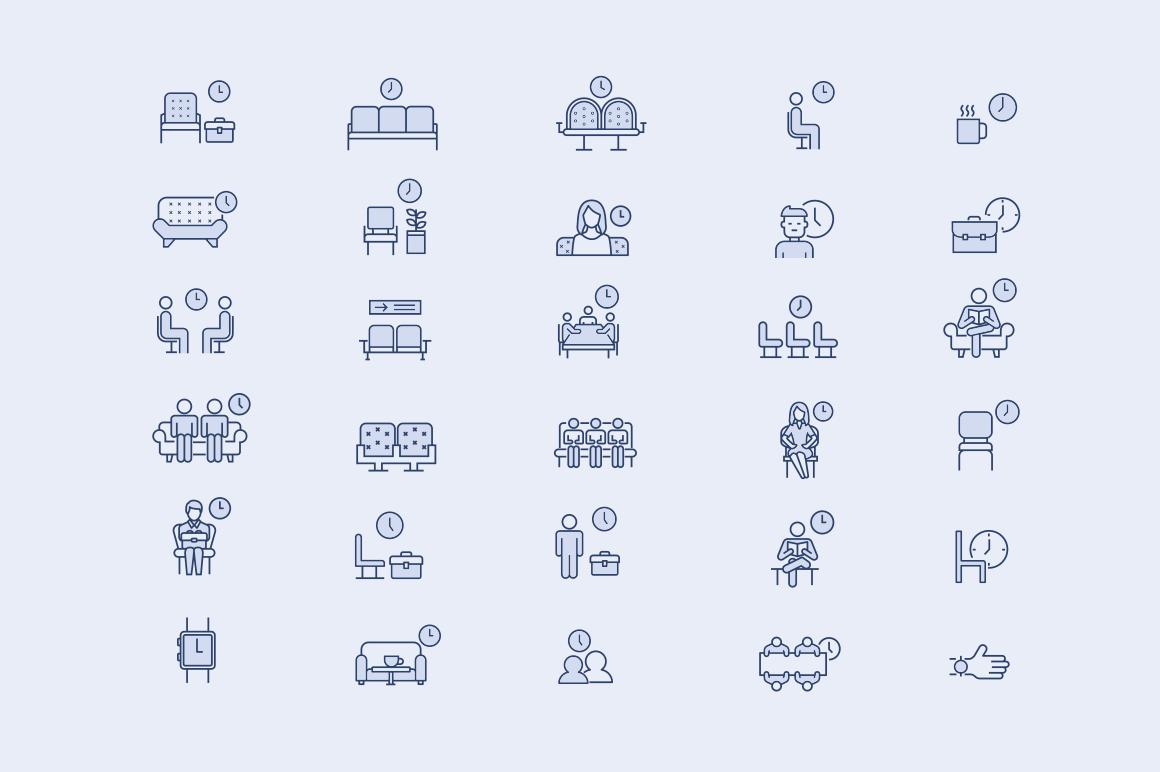 30 Waiting Room Icons