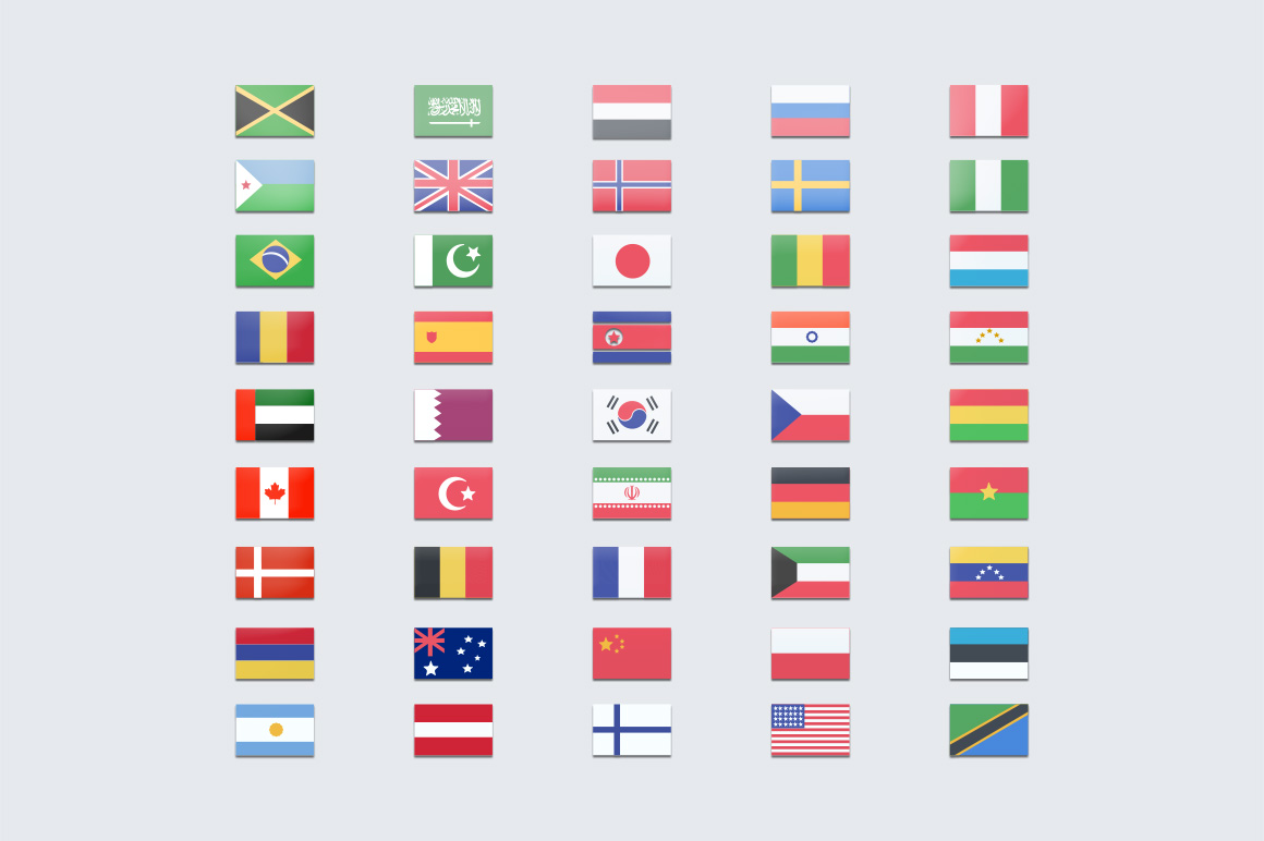 45 Beautiful Flag Icons