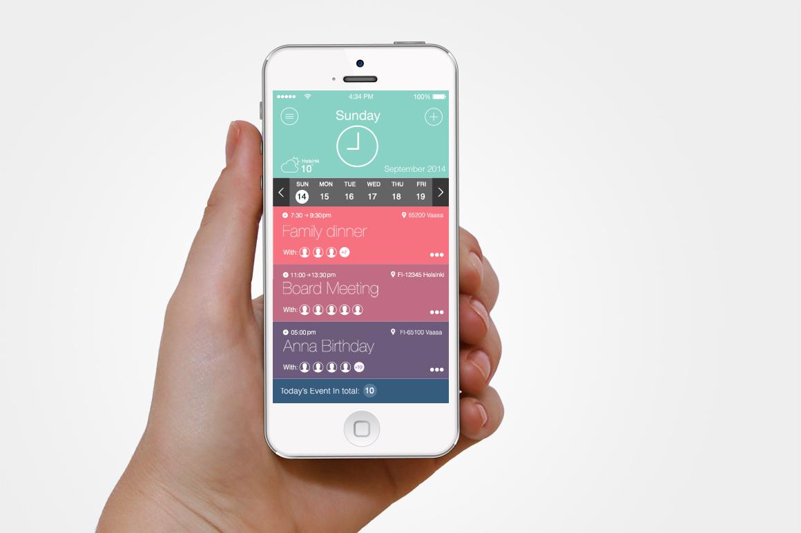 agenda app interface creative vip